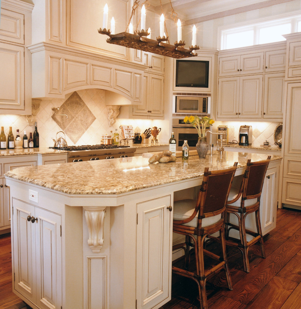 Amazing Custom Mediterranean Kitchen Cabinetry