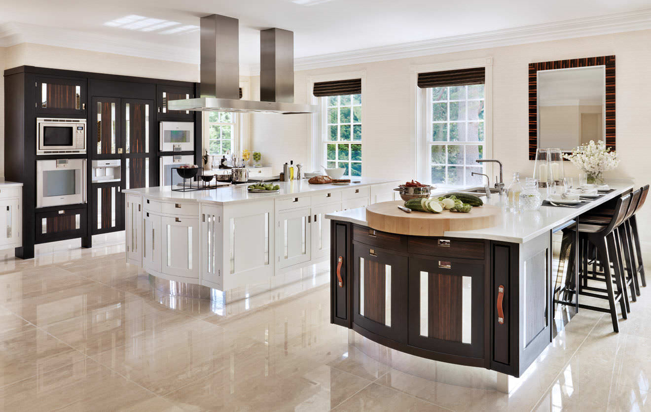 Creative Contemporary Solid Wood Wood Veneer Kitchen