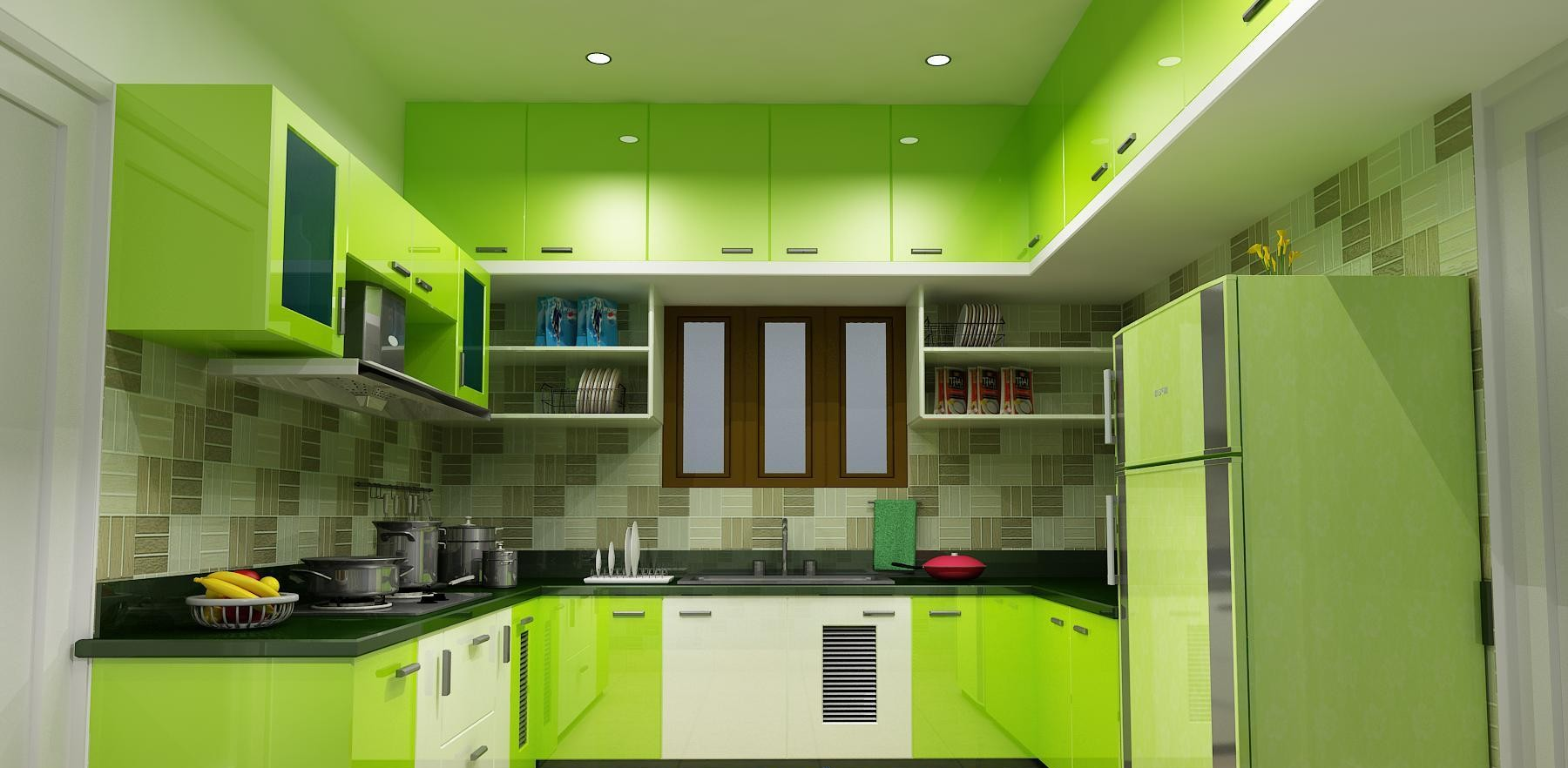 Lovely Green Kitchen Design