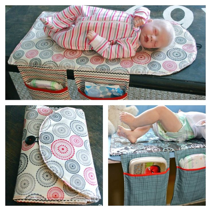 Diaper Clutch with Changing Pad
