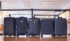 carry on luggage with suiter