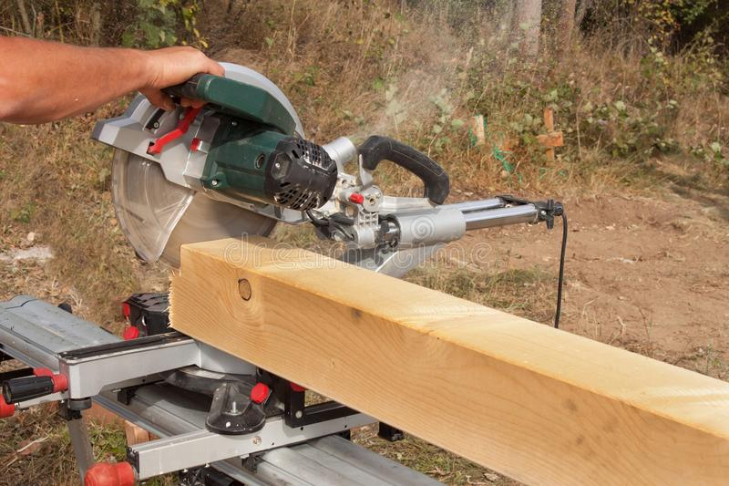 Chainsaws Sawing Wood Frame