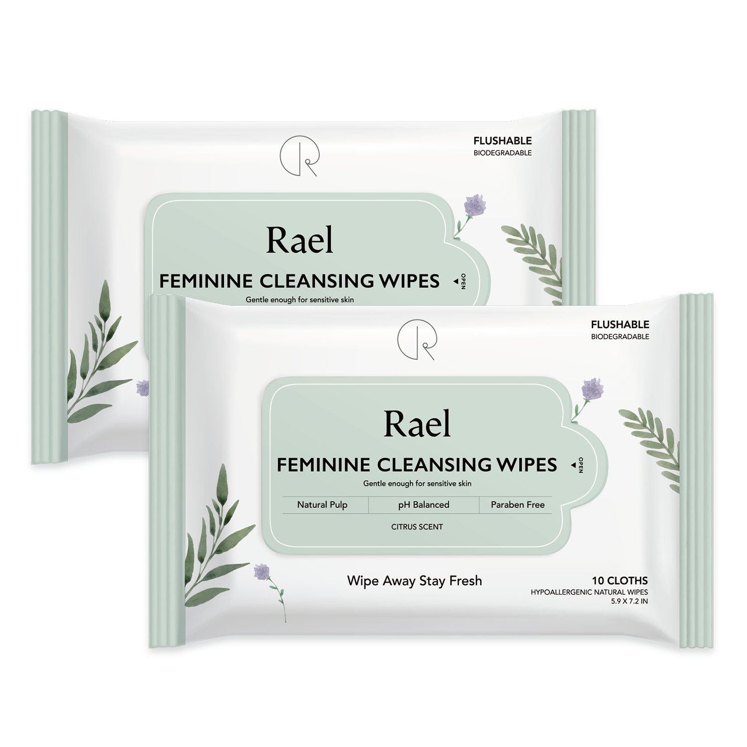 Feminine wipes for sensitive skin