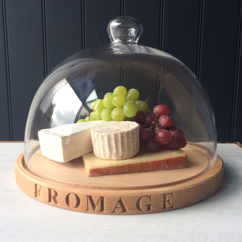 Glass Domed Cheese Plate