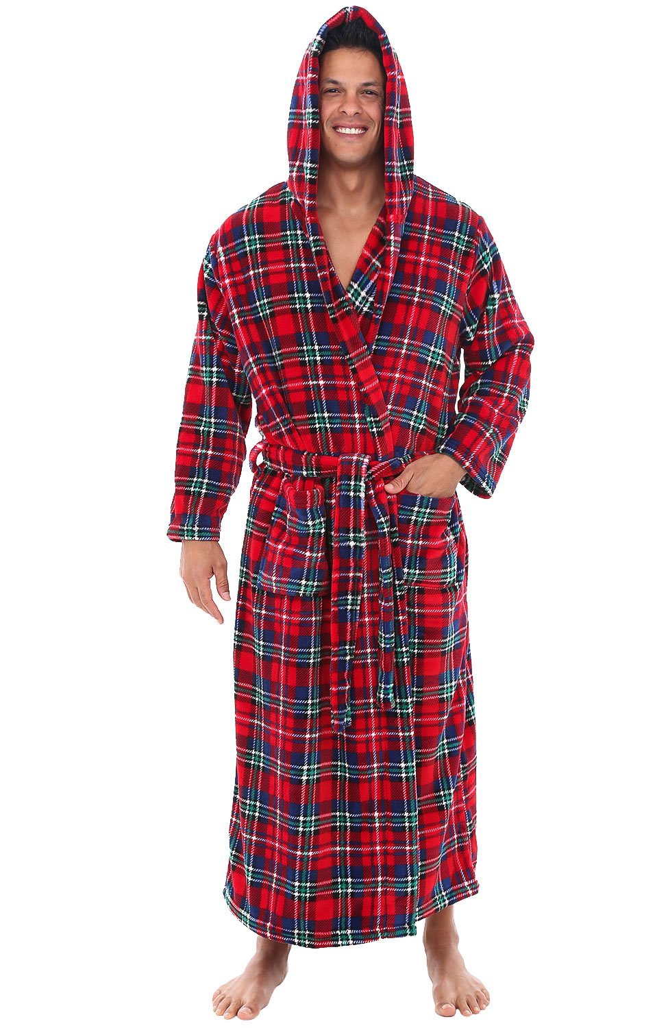 Mens Red Terry Cloth Robe