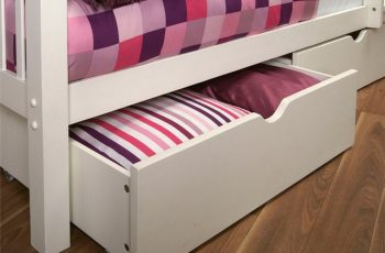 underbed storage drawers white