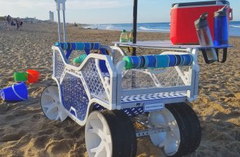 beach cooler with sand wheels