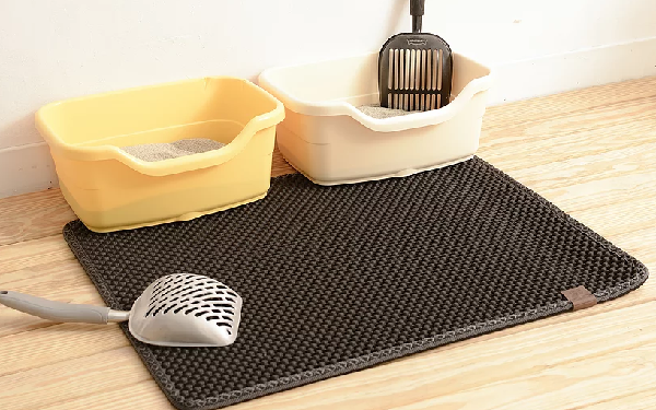 Black Hole Kitty Litter Mat