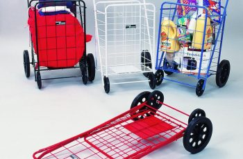 collapsible shopping cart on wheels