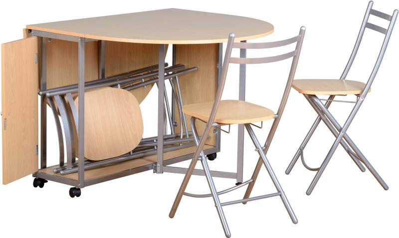 Foldable Kitchen Table and Chairs