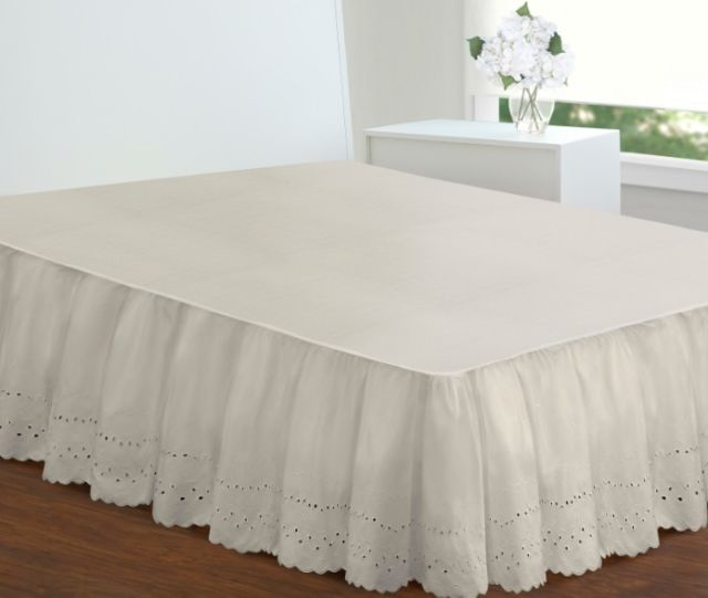 King Size Bed Skirts 18 Inch Drop