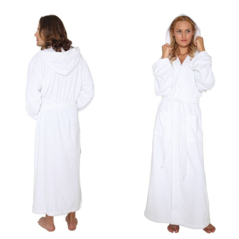 Mens Terry Cloth Hooded Bathrobes
