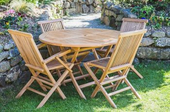 outdoor folding table and chairs set