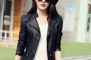 slim fit leather jacket womens