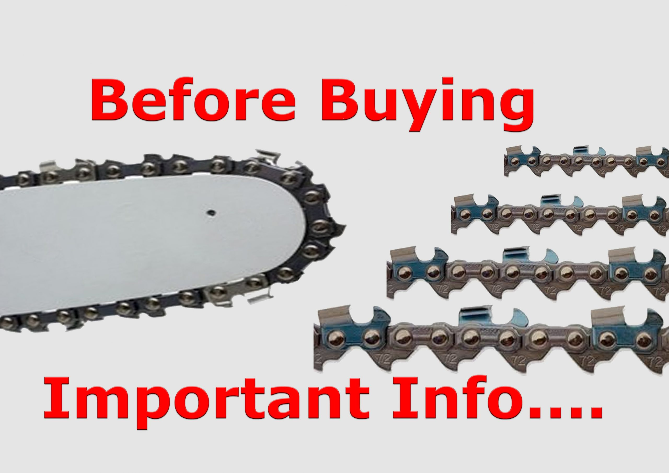 3 Important Facts You Need to Know Before Buying Chainsaw Chain/Save Your Time & Money MUST SEE