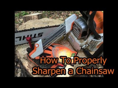 The Best Way To Sharpen a Chainsaw  Stupid easy!
