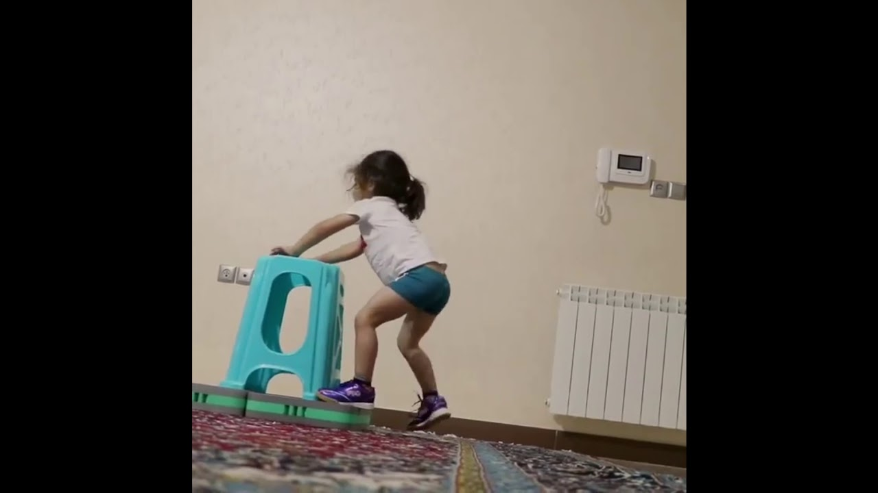 Little kid trying to jump on stool|720p full hd (720×1280)|kp official YouTuber