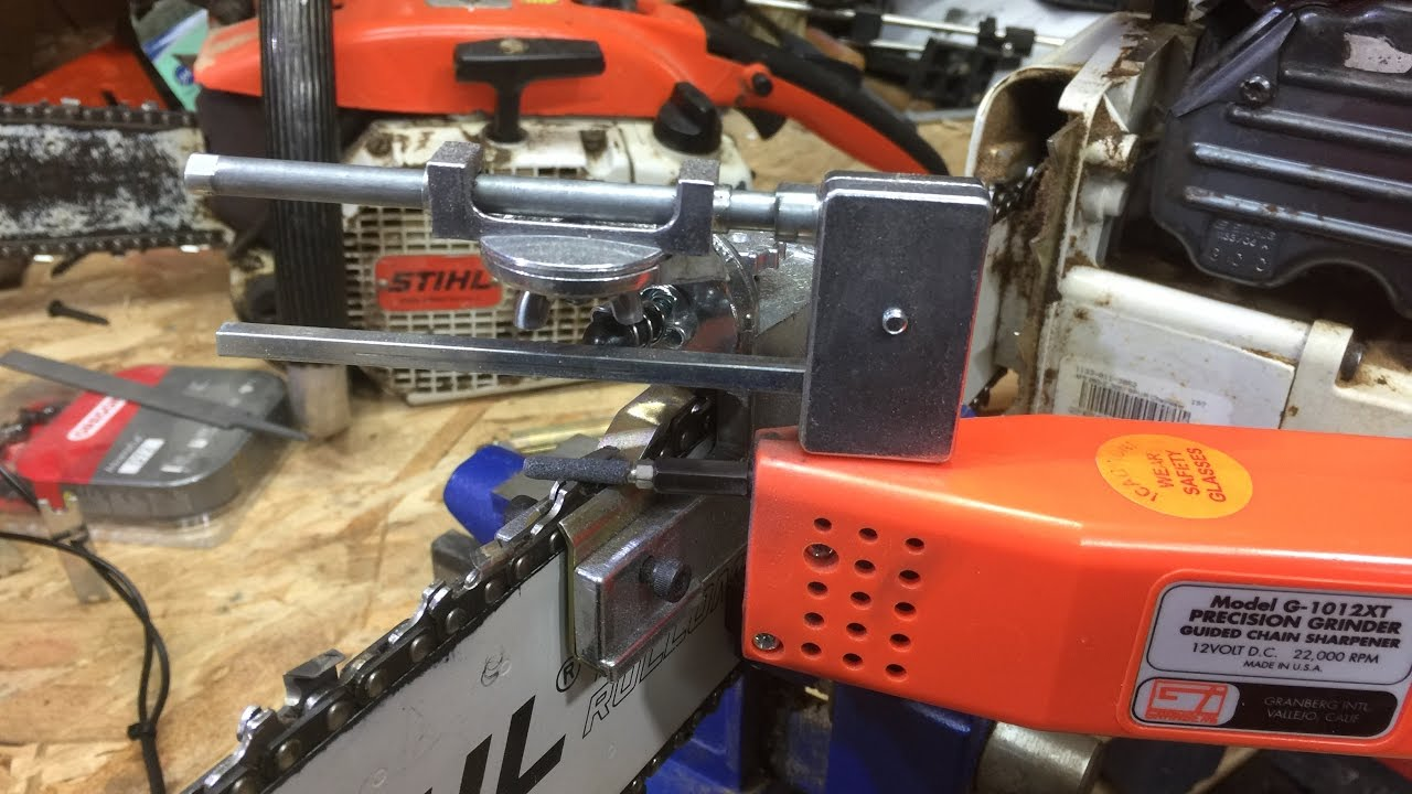 FINALLY!!! Sharpening your chainsaw chain PERFECTLY w/Granberg g1012xt