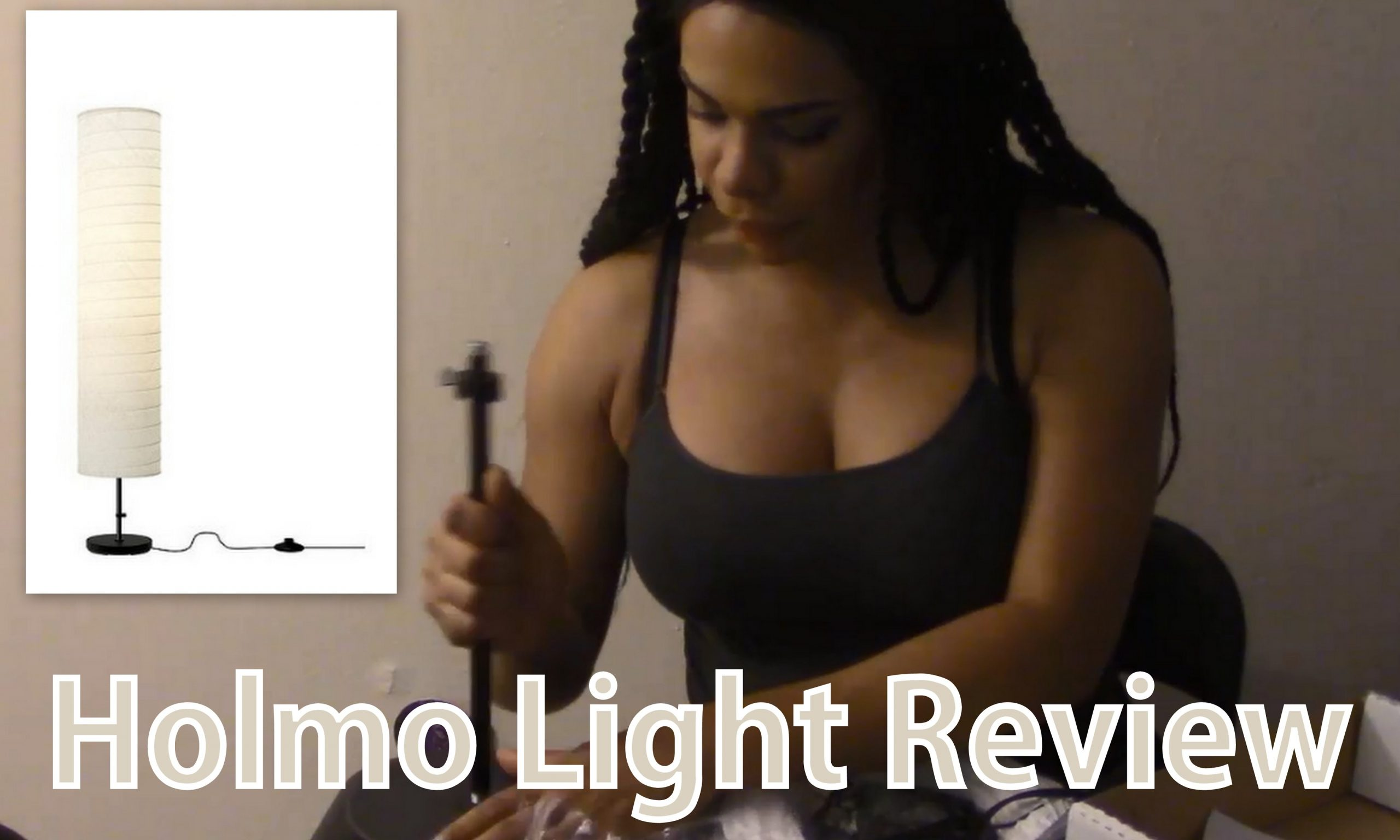 Ikea Holmo 46 Inch Floor Lamp with LED Bulb Review   Watch Me Set It Up