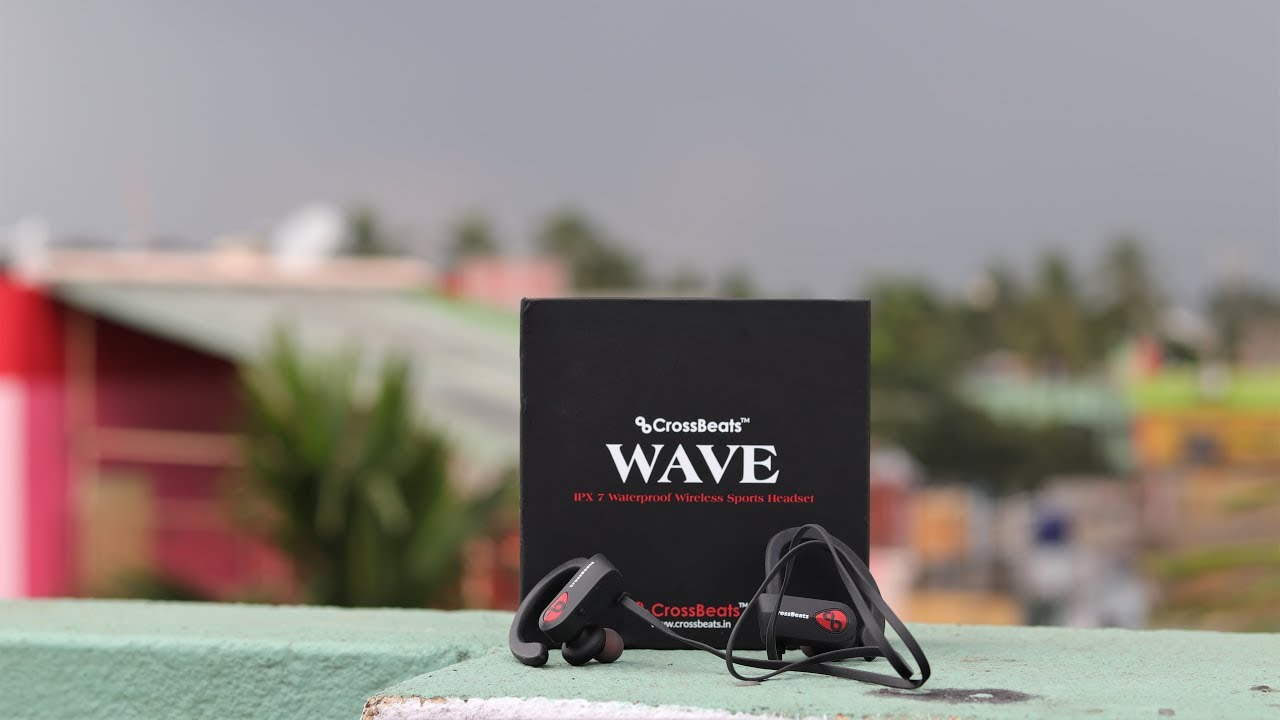 CrossBeats Wave Bluetooth Waterproof Headphones || Unboxing & Review
