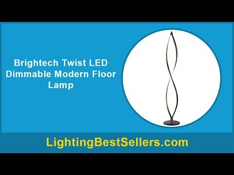 brightech twist led dimmable modern floor lamp