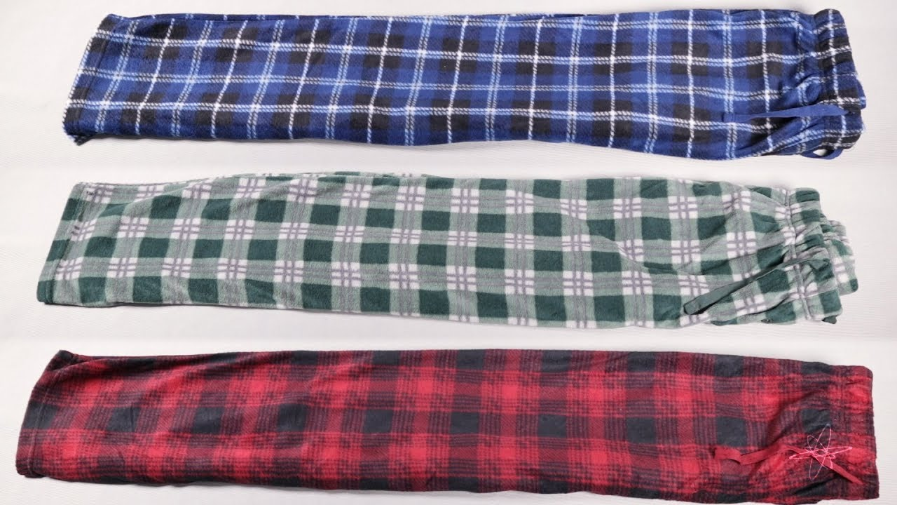 (3 pack) Men's Soft Fleece Lounge Pajama Pants – with Pockets