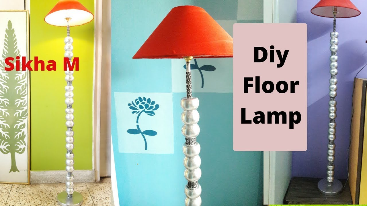 #Diy #FloorLamp | Ball Floor Lamp | Designer Floor Lamp |#LampmakingAtHome | Sikha M