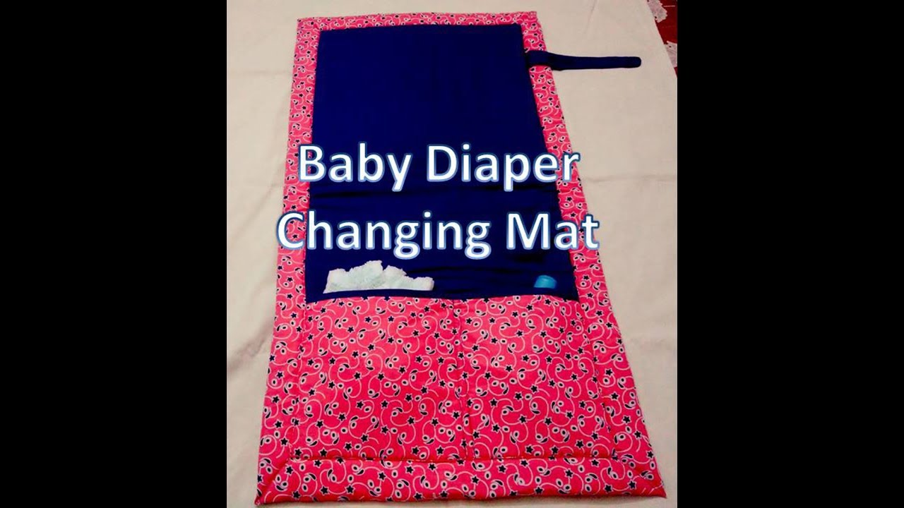 Baby Diaper  Changing Travel Mat DIY/ How to sew a baby diaper changing mat