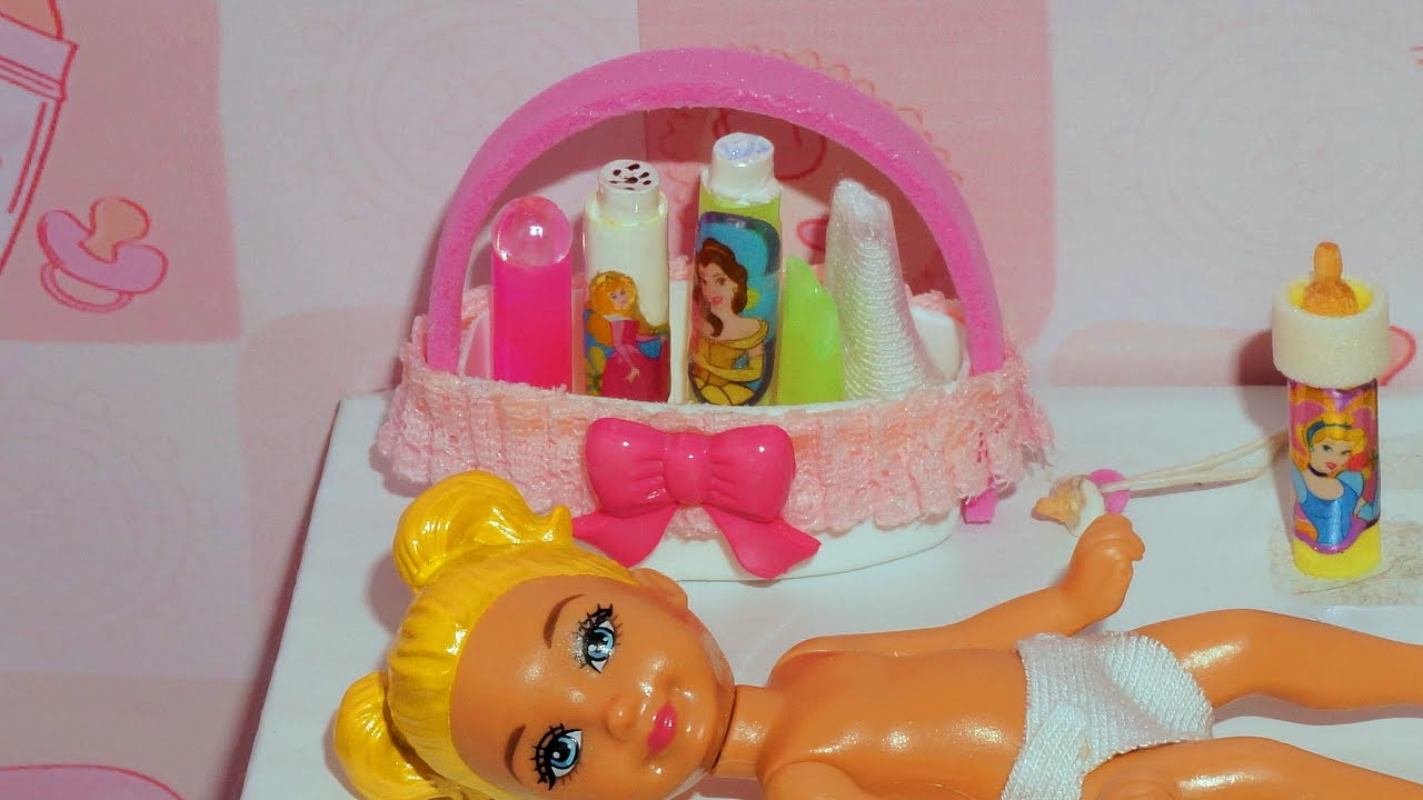 How To Make A Baby Diaper Caddy And Diaper Pail For Doll (Monster High, MLP, EAH, Barbie, Etc)