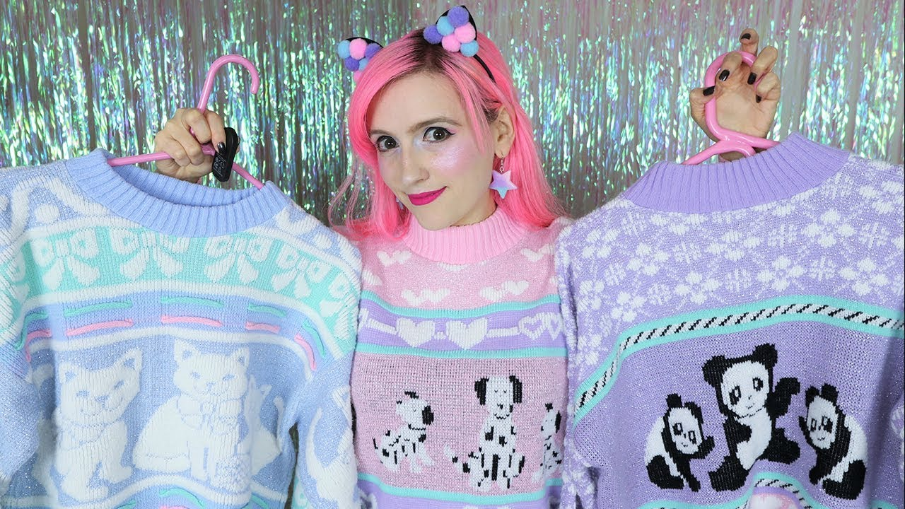 Fall Sparkly Pastel Sweater Try-On!