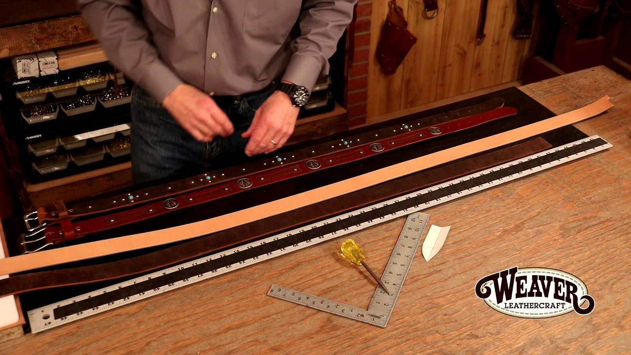 Making A Leather Belt Chapter 1: Measuring For Your Belt Holes