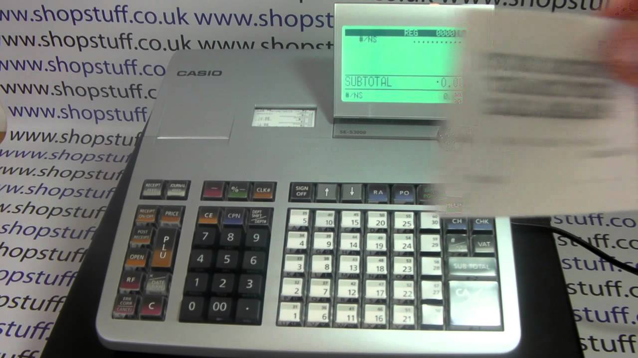 Casio SE-S3000 / PCR-T2100 How To Open Till Cash Drawer Without Doing A Sale