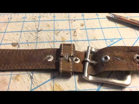 How To Repair A Leather Belt Buckle