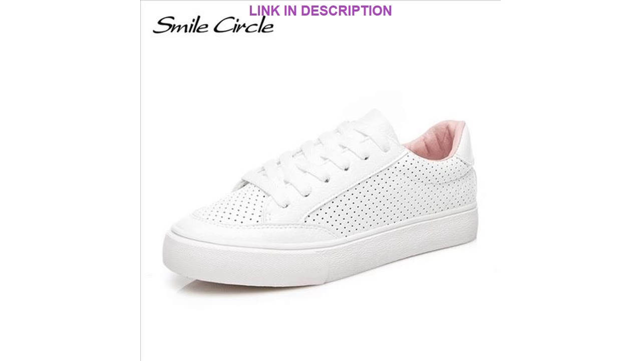 Cheap Smile Circle Super Soft Winter Fur Sneakers White Women Lace-up
