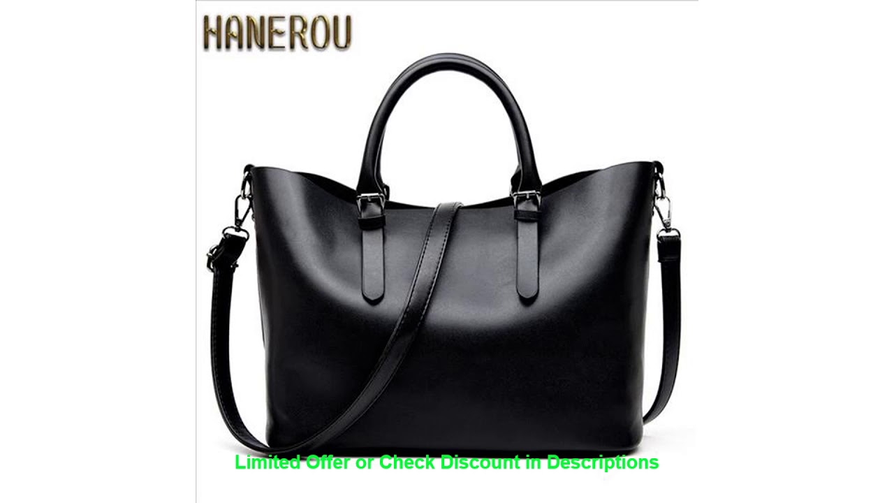 Cheap Bolso Mujer Negro 2019 Fashion Hobos Women Bag Ladies Brand Leat