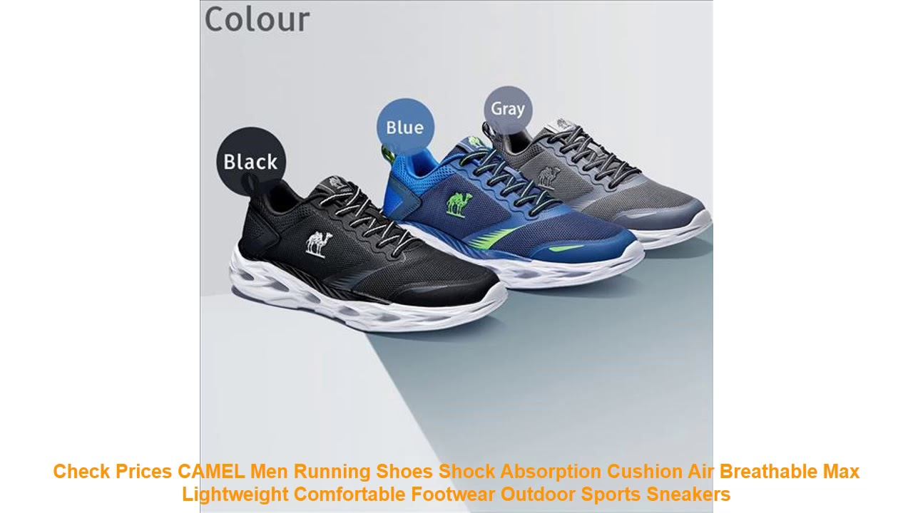 Check Prices CAMEL Men Running Shoes Shock Absorption Cushion Air Brea