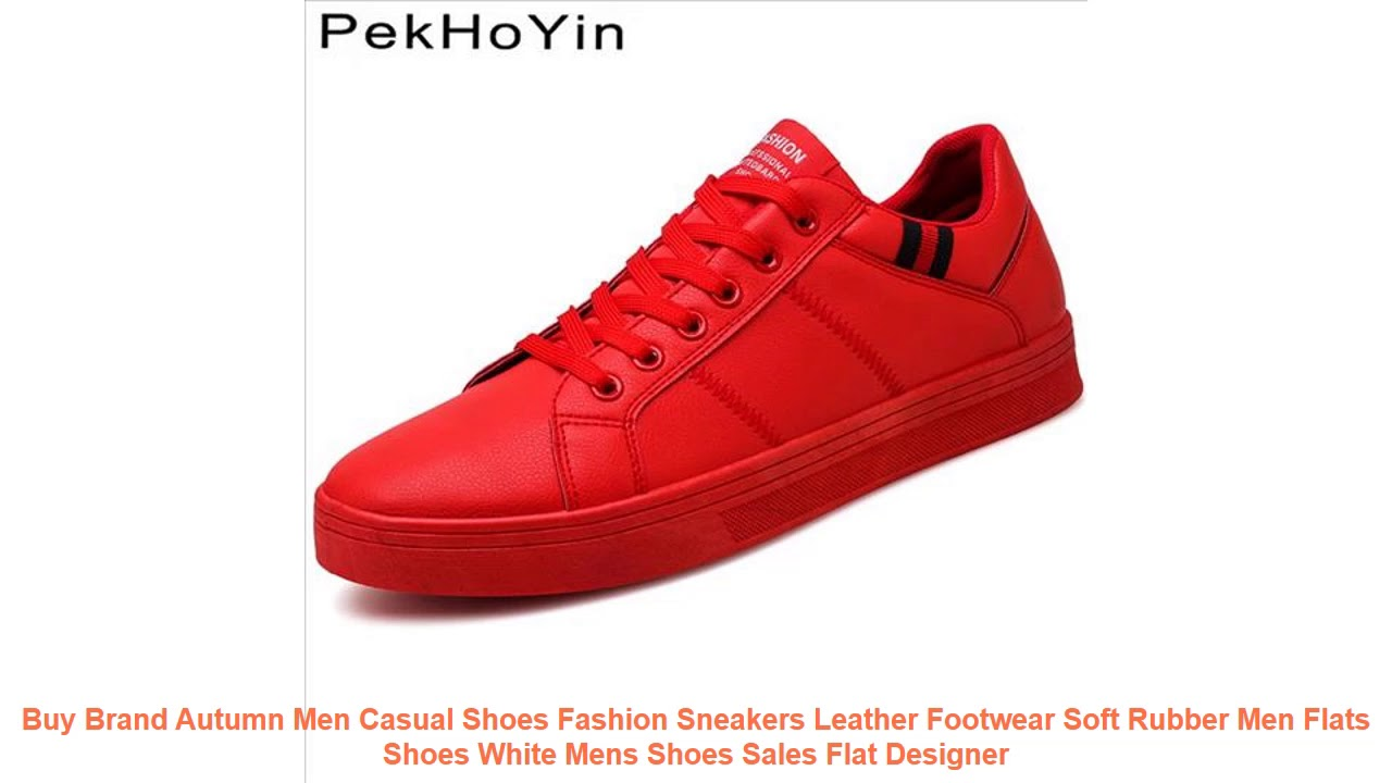Buy Brand Autumn Men Casual Shoes Fashion Sneakers Leather Footwear So