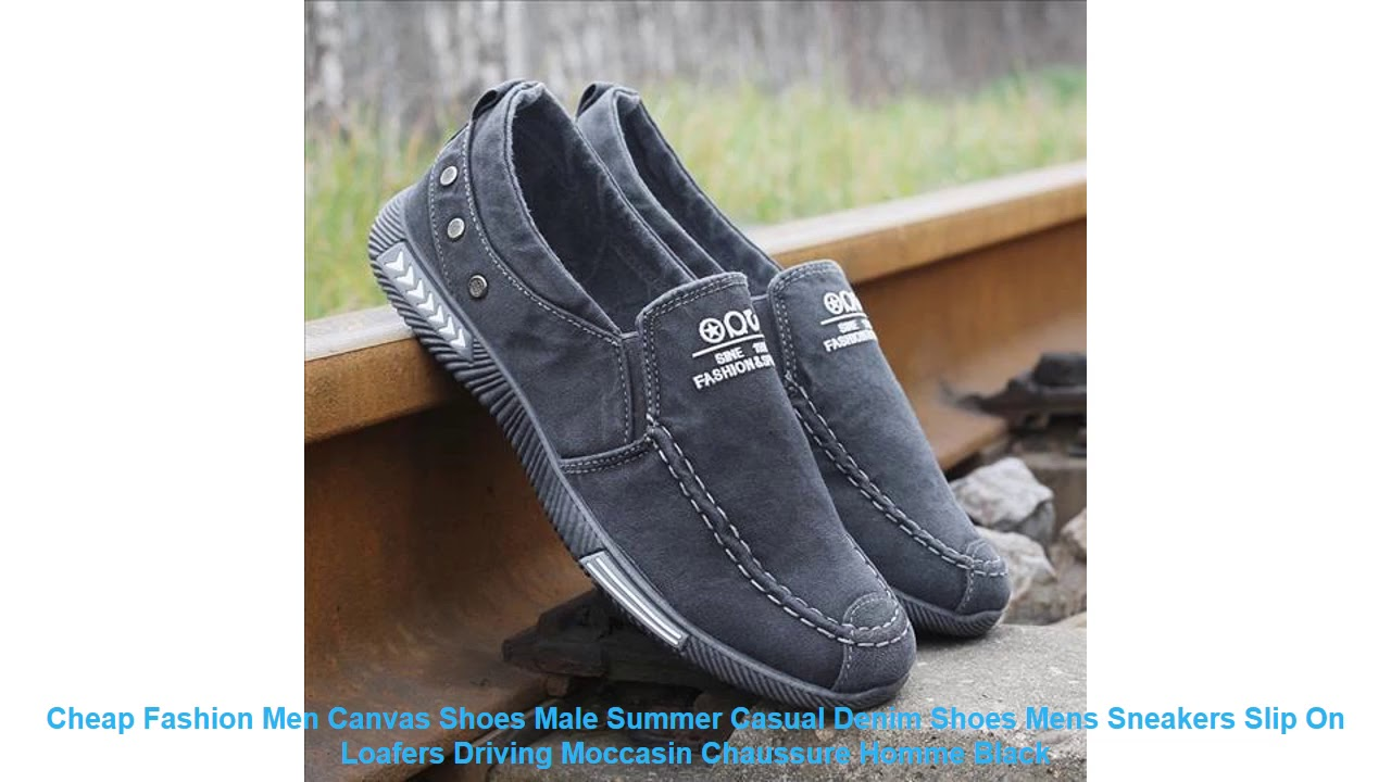 Cheap Fashion Men Canvas Shoes Male Summer Casual Denim Shoes Mens Sne