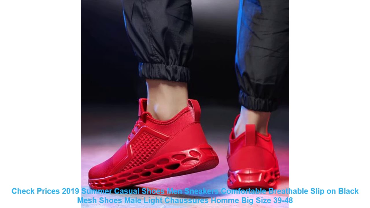 Check Prices 2019 Summer Casual Shoes Men Sneakers Comfortable Breatha