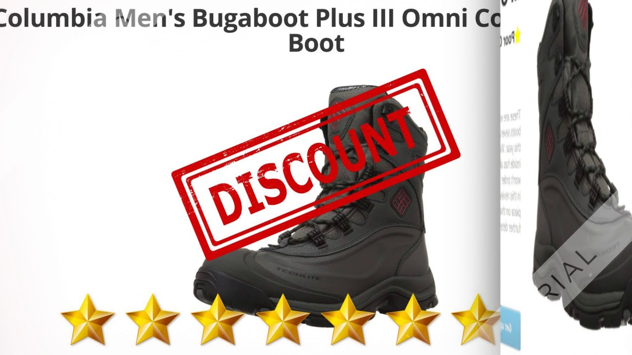 Columbia Men's Bugaboot Plus III Omni Cold-Weather Boot  | Review And Discount