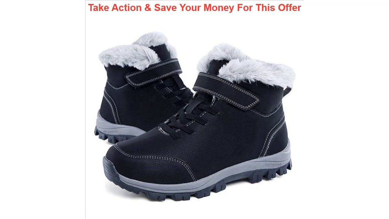 Top New Winter Boots Men Waterproof Leather Boots Men High Top Shoes 2019 Black Winter Footwear Lac