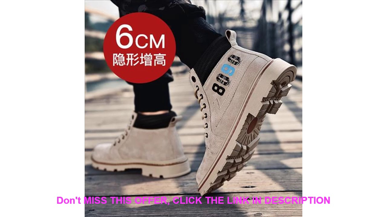 New Winter Street Men Casual Boots Warm Thick Men Snow Boots Increase Non-slip Outdoor Hiking Men