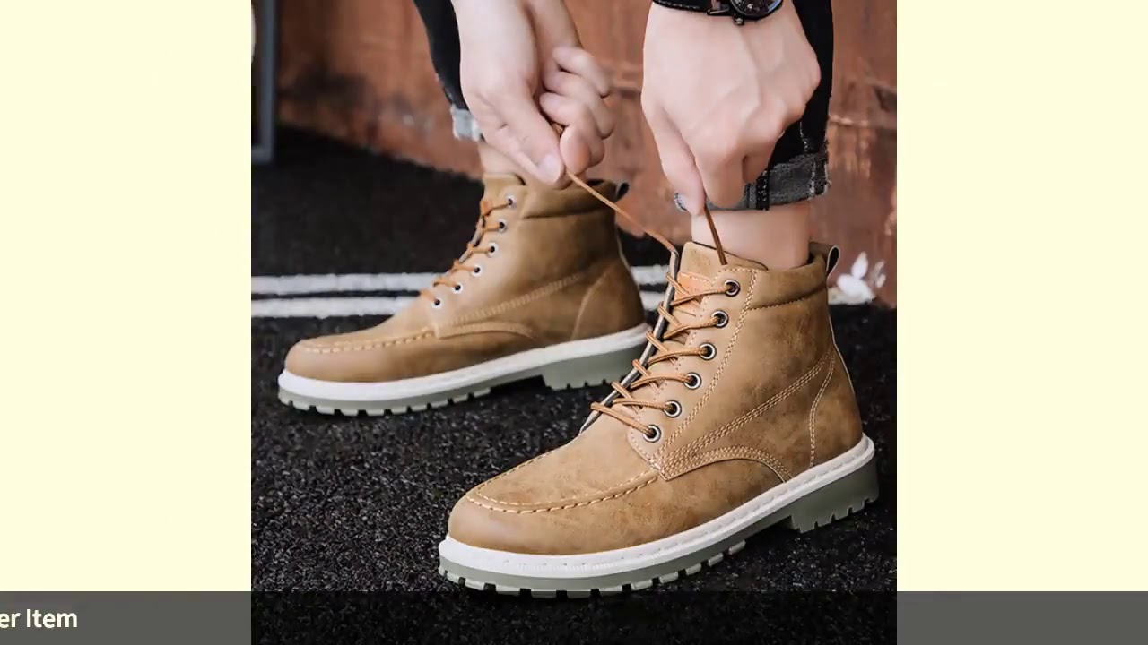 LOOZYKIT 2019 Fashion Autumn Early Winter Boots Men Shoes Cool Young Men Boots Fashion Street Mal…