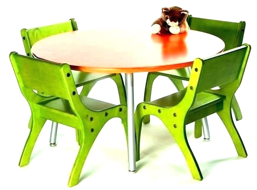 Foldable table and chairs for toddlers for Concrete