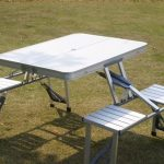foldable table and chairs set