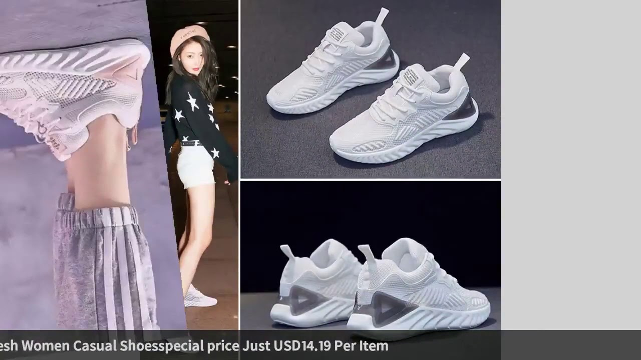KAMUCC 2019 New Autumn Vulcanize Female Fashion Sneakers Lace Up Soft High Leisure Footwears Brea…