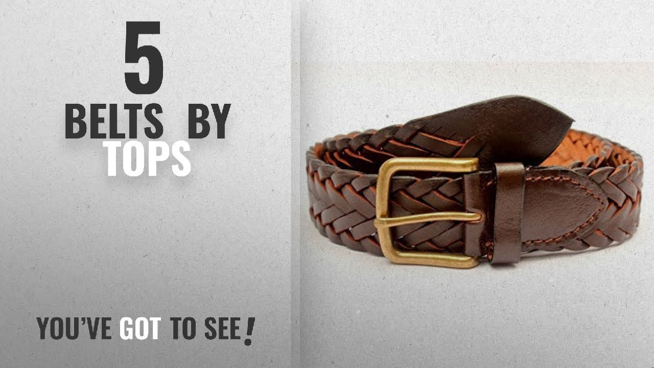 Top 10 Tops Belts [2018]: Tops 35mm Dark Brown Hand Braided Leather Belt