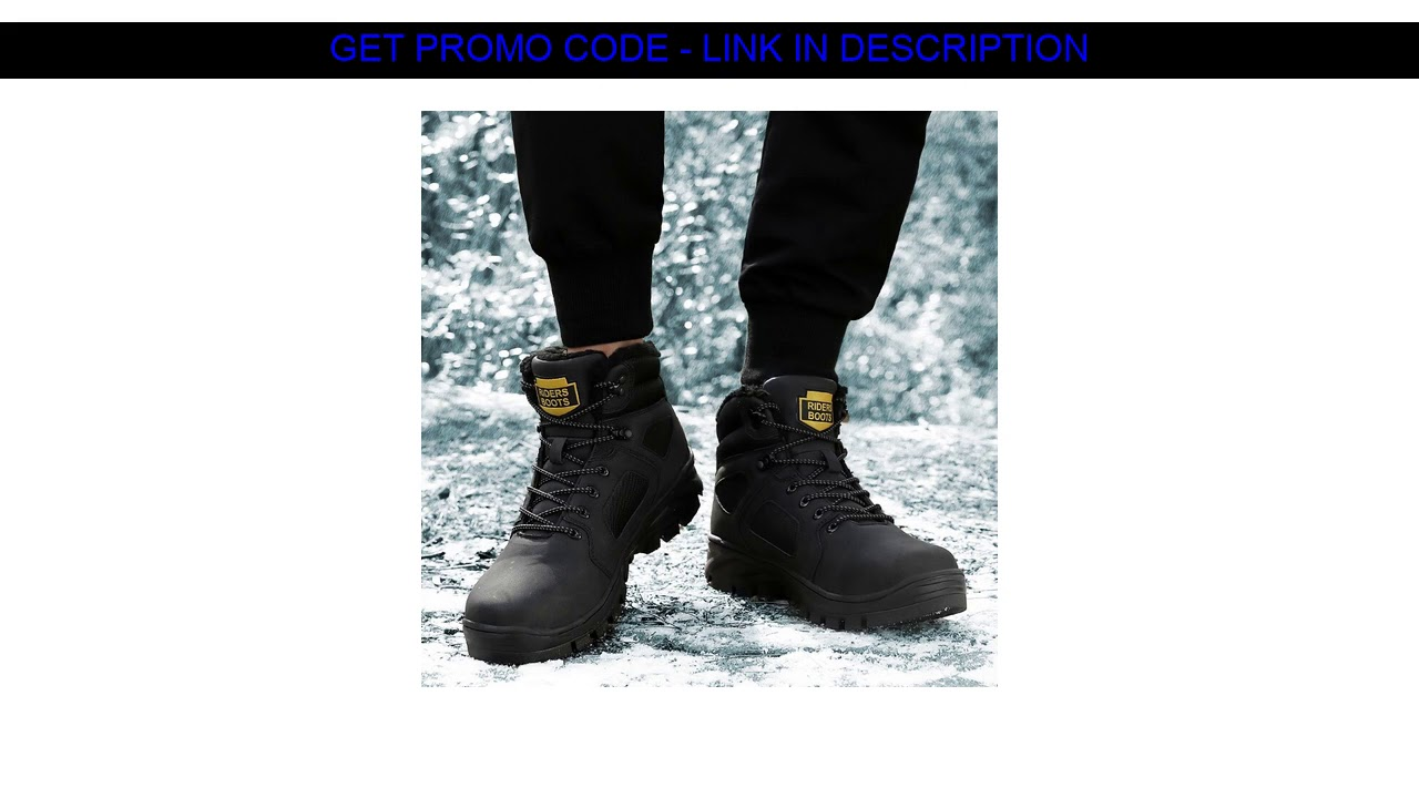 Best  ADBOOV China Winter Men's Boots Outdoor Warm Ankle Safety Shoe Leather Walking Hiking Snow Bo