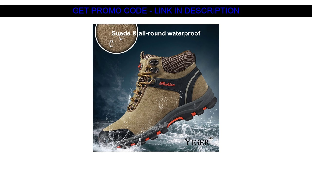 Good Item  YIGER New Men Outdoor Shoes Winter Plush Combat Boots Man Lace-up Casual Shoes Men Leisu