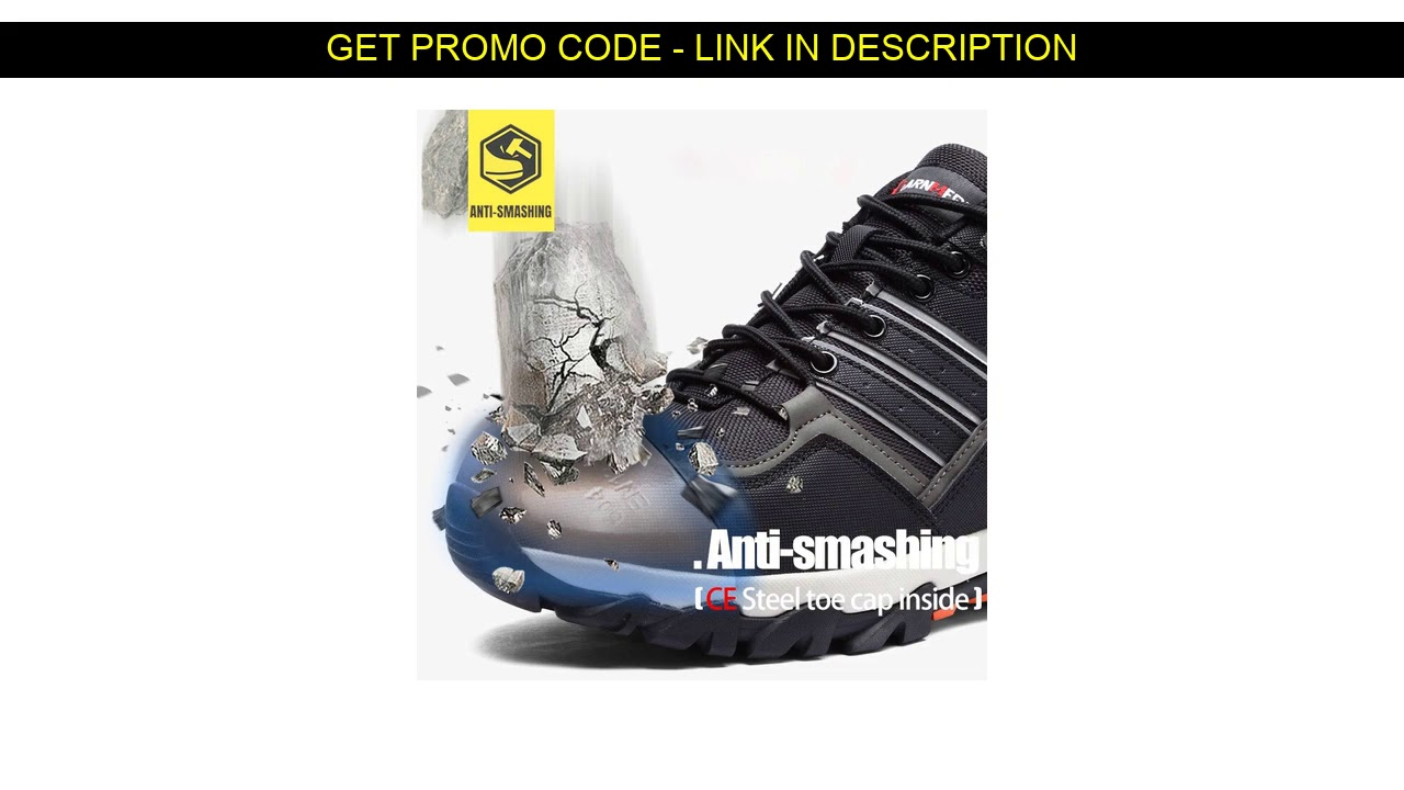Cheap  MODYF Breathable Men Safety Shoes Steel Toe Work Shoes For Men Anti-smashing Construction Hi